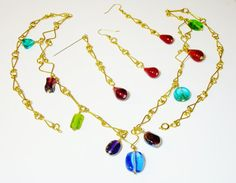 On Sale /  GOLD Plated Wire Necklace Earrings by AmhalchyJewelry, $29.95