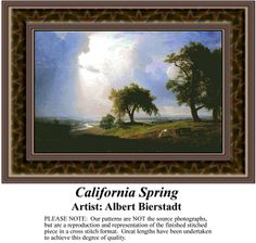 California Spring, Fine Art Counted Cross Stitch Pattern also available in Kit and Digital Download #pinterestcrossstitchpattern #pinterestgifts