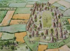 Village from Hodde in Jutland, about 80 BC