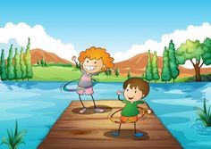 Colección de  juegos deportivos cooperativos con aros infantil y primaria