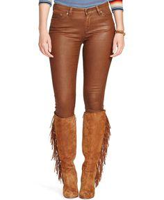 Lauren Ralph Lauren Plus Size Coated Skinny Jeans