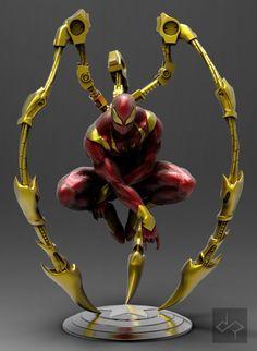 Iron Spiderman , jem gonzales on ArtStation at https://www.artstation.com/artwork/mOnW1