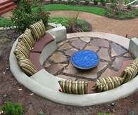 sunken fire pits with seating