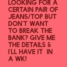 Special request Now taking orders for special requests such as Levi's, American Eagle, Free People, Seven For All Mankind, big star denim the buckle, Calvin Klein and so forth give me the details size color Etc and I will have it for you within a week. I want to call it designer broker services Dresses Mini