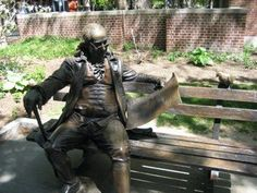 Ben Franklin Bench at the University of Pennsylvania in Philadelphia. That's where Jesse went to college..