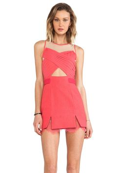 Three Floor La Femme Dress in Paradise Pink/ Nude from REVOLVEclothing