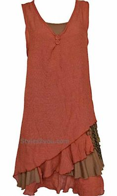 Pretty Angel Clothing Two Piece Knit Top In Rust
