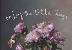 Enjoy the little things Little Things, Beautiful Words, Picture Quotes, Wise Words, Philosophy, Wednesday, Typography, Inspirational Quotes, Wisdom