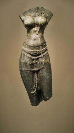 The Goddess Tara -A Pala Dynasty standing figure of the goddess Tara.  Schist  Nalanda, Bihar, India  X century  H cm. 100