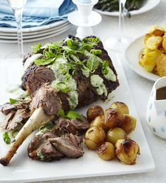 Christmas roast lamb with fresh mint topping - ChelseaWinter.co.nz