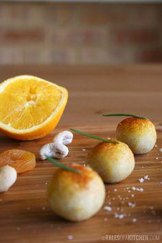 Orange macadamia raw spiced truffles