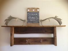 Pallet Wood Wall Shelf and Coat Rack | 101 Pallet Ideas