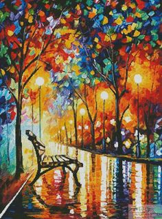 0be652980fa Artecy Cross Stitch. Loneliness of Autumn Crossing Cross Stitch Pattern to  print online. Loneliness