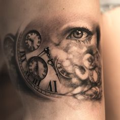 ... And more details to come!  #tattoo #clock #eye #tatuering #inkeeze #radiantcolors #BishopRotary