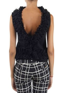 Dsquared2 Women Sleeveless Top with silk inserts - Spence Outlet
