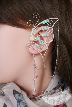 Butterfly ear cuff https://www.etsy.com/ru/listing/185852611/reserved-listing-the-first-butterfly