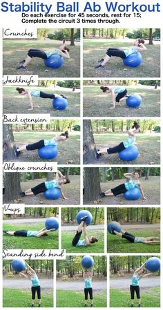 Flat Abs Workouts with a stability ball