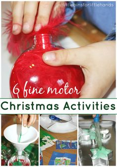 // Favorite Christmas Fine Motor Activities Fine Motor Fridays Blog Hop & Linky Party Check out Christmas fine motor ideas!- repinned by @PediaStaff – Please Visit  ht.ly/63sNt for all our pediatric therapy pins