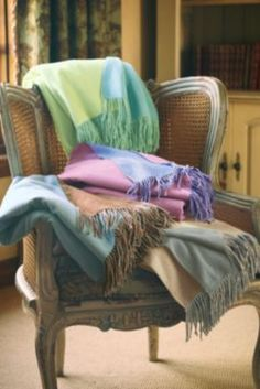 Reversible Silk Fleece Throw - Throw Blanket, Fleece Throw | Soft Surroundings