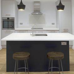 Kitchen of the week… Located in St Albans, Herts, showcasing the Carrera - Rock and Co Granite Ltd Marble Quartz, White Quartz, St Albans, New Builds, Carrera, Granite, Kitchens, Rock, Furniture