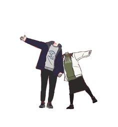 Cute Couple Drawings, Cute Couple Art, Anime Love Couple, Cute Anime Couples, Cute Drawings, Couple Illustration, Character Illustration, Overlays Cute, Cartoon Body