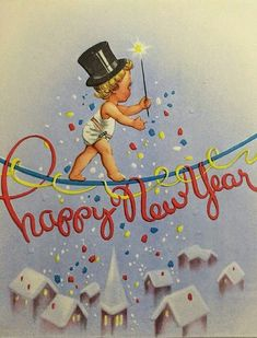 Baby New Years on a tightrope