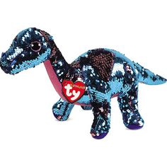 Ty Beanie Boos Flippables Bonnie Yappy Fox Sequin Colorful red Plush doll L. Ty Beanie Boos Flippables Bonnie Pink Rabbit Color Changing Zequin Plush u. Dinosaur Toys, Dinosaur Birthday, Dinosaur Stuffed Animal, Stuffed Animals, Dinosaur Gifts, Dinosaurs, Hurley, Ty Beanie Boos, Beanie Babies