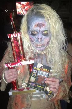 """Sally Guild wins First Place at the DC Zombie Crawl as """"Zombie of the Year""""!!   Congrats Sally!"""