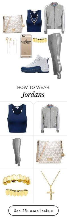 """""""Untitled #832"""" by msnh on Polyvore featuring adidas Originals, Topshop, Sterling Essentials, Michael Kors, Frends and NIKE"""