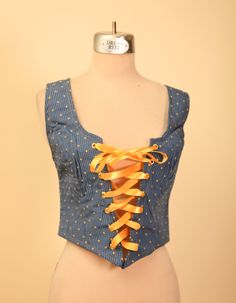 Renaissance Lace Up Bustier Corset Bodice - pinned by pin4etsy.com