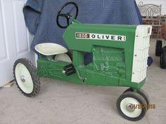 rare oliver 1800 pedal tractor kids carsantique