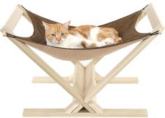 """Your cat will love hanging out in the SnoozePal Cat Hammock. The SnoozePal™ sturdy cardboard box encloses a comfortable hammock to snuggle in, gives your cat an elevated spot off the floor, and has porthole windows to keep an eye on everything. A happy cat is a cat in a SnoozePal cat hammock. <p style=""""text-align: center;""""><strong><font color=""""#cc0000""""><font size=""""4"""">SnoozePal™ cat hammock with reinforced roof! Your cat ca..."""