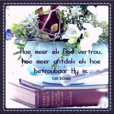 Goeie Nag, Goeie More, Inspirational Qoutes, Afrikaans, Christian Quotes, Things To Think About, God, Blessings, Cards