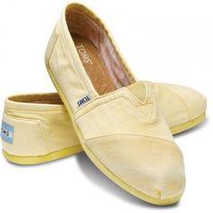 TOMS Yellow Palmetto Classics Women Slip-On Size 10