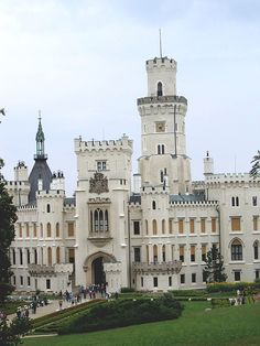 Hluboká Castle, situated in Hluboká nad Vltavou and considered one of the most beautiful castles of the Czech Republic #castles http://Facebook.com/prettyincusa  http://myprettyblog.com http://myprettystore.com #prettyInc Pretty Inc Boutique
