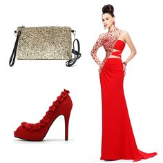 #OOTD: We found the perfect red dress for this amazing #SofiaCardoni clutch! 🌹