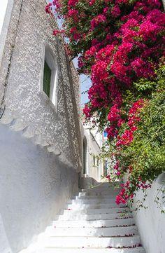 At the streets of Chora, Amorgos island