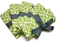 Bridesmaids Clutches in green lattice and gray.  Custom colors available.. $275.00, via Etsy.
