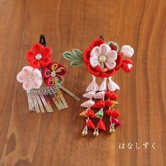 (注)発送方法はよくご検討の上お選び下さい。宅急便は着払いです。送料無料ではありませんのでご注意下さい。ご覧いただき誠にありがとうございます。七五三用のかんざし2点セットです。<色>赤・ピンク・古典柄葉っぱはわさび色🌺ご不明な事がございましたらメッセージ... Minne, Jewelry, Fabric Flowers, Jewlery, Jewerly, Schmuck, Jewels, Jewelery, Fine Jewelry