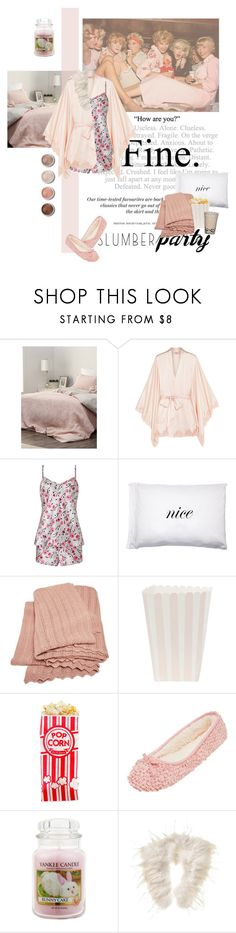 """""""Sleep on It! Slumber Party Style"""" by lacas ❤ liked on Polyvore featuring Simons, Agent Provocateur, Somerset by Alice Temperley, H&M, Kiki de Montparnasse, Aiayu, Terre Mère, Yankee Candle, Phase Eight and slumberparty"""