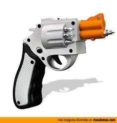 Atornilador con forma de pistola.