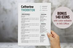 Bold 2 in 1 Word resume by Inkpower on @creativemarket