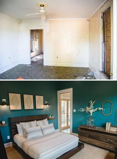 Fixer Upper season 3 The Shotgun House. Before and after. How to maximize space in  small houses.