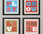L O V E - Downloadable Kid's Room Wall Art Set