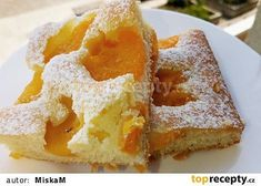 Rychlá meruňková buchta recept - TopRecepty.cz Healthy Diet Recipes, Dog Food Recipes, Dinner Recipes, Apple Cookies, Clean Eating Diet, Granola Bars, Diet Meal Plans, Meal Planning, French Toast