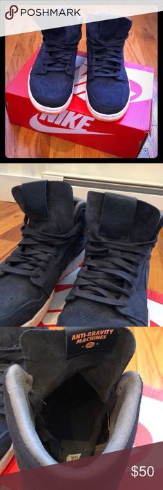 Nike Jordan Navy Suede ANTI GRAVITY MACHINES Nike Jordan Navy Blue Suede ANTI GRAVITY MACHINES Sneakers. Lightly worn, but in great condition for an sneaker head. Jordan Shoes Sneakers
