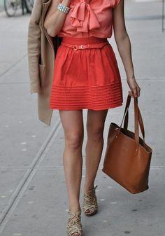 salmon skirt)