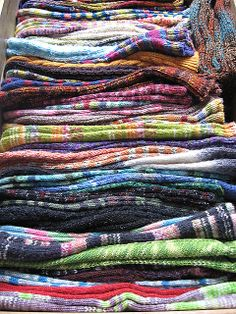 Glorious drawer of hand knit socks - Maybe I need to start storing mine this way...after I wash them!