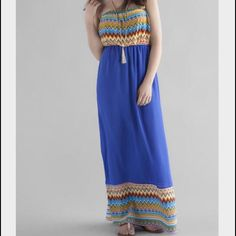 Escalona Strapless Maxi Dress