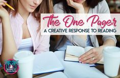 Read about the power of the one pager as a response to reading in secondary classrooms. #highschoolela #bookclub